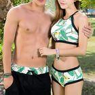 Couple Matching Floral Print Tankini / Swim Shorts 1596