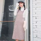 Buttoned Midi Pinafore Dress 1596