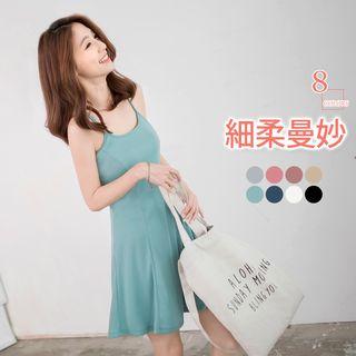 Spaghetti-Strap A-Line Dress 1052804039
