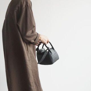 Round-Neck Cotton Midi Dress 1063114496