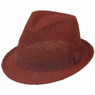 Buy GRACE Woven Fedora Red – One Size 1022238639