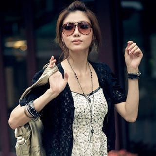 Buy PUFFY Lace Cardigan Black – One Size 1022945701