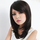 Medium Full Wig - Straight Dark Brown - One Size 1596