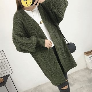 Ribbed Long Cardigan 1065022712