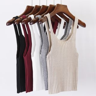 Ribbed Knit Tank Top 1056692753