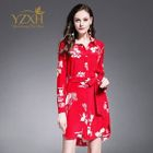 Long-Sleeve Tie-Waist Floral Dress 1596