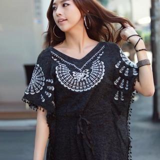 Buy REDOPIN Knit Tunic Dress 1021966248