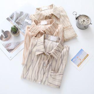 Long-sleeve Tie-dye Shirt