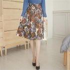 Patterned A-Line Skirt 1596