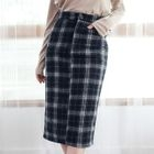 Plaid Pencil Skirt 1596