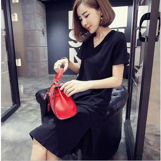 V-neck Short-Sleeve Dress 1060143238