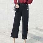 Button-Front Wide-Leg Pants 1596