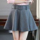 Plain Ruffle A-line Mini Skirt 1596