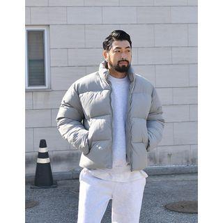 Mock-neck Zip-up Padded Jacket