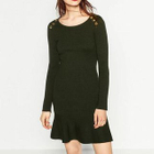 Buttoned Sheath Dress 1596