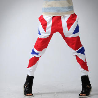 Picture of deepstyle Union Jack Harem Pants 1022961686 (deepstyle, Mens Pants, Korea)