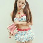 Set: Cherry Print Bikini + Swim Skirt 1596