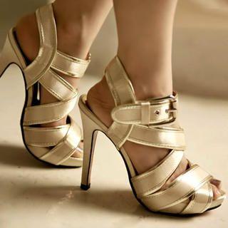 Buy Kvoll Strappy Platform Sandals 1022654193