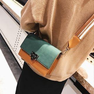 Color Panel / Plain Crossbody Bag