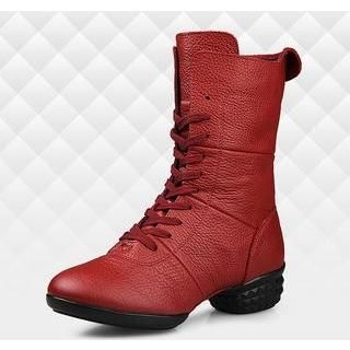 Genuine Leather Jazz Dance Ankle Boots