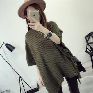 Ribbed Cape Sweater 1057699522