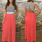 Sleeveless Open Back Maxi Dress 1596