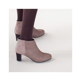 Faux-Leather Ankle Boots