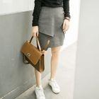 Layered Pencil Skirt 1596