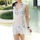 Sleeveless Crocheted Swimsuit Cover-Up 1596