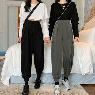 High-waist   Cargo   Pant