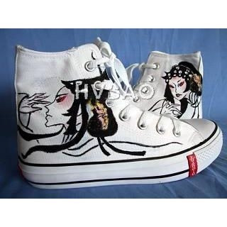 Buy HVBAO Chinese Opera Character High-Top Sneakers 1011786526