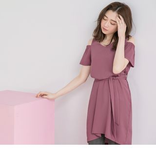 Cold Shoulder T-Shirt Dress 1066621203