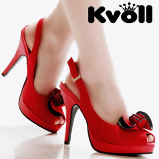 Buy Kvoll Peep-Toe Platform Slingback Stilettos 1022512525