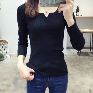 Ribbed Long-Sleeve T-Shirt 1053606398