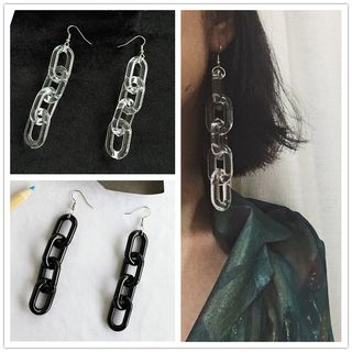 Image of Acrylic Chain-Link Earrings