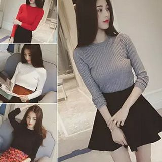 Striped Knit Pullover 1048296265