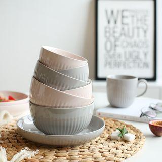 Ribbed Ceramic Plate / Bowl 1060528566