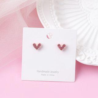 Rhinestone | Earring | Figure | Heart | Size | One