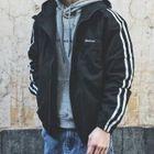 Striped Hooded Jacket 1596
