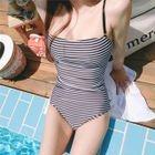 Stripe Swimsuit / Long-Sleeve Swimsuit 1596