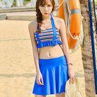Set: Ruffle Pattern Bikini Top + Swim Skirt 1596