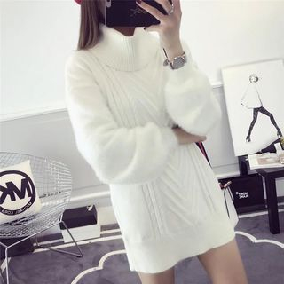 Mock-neck Ribbed Sweater 1054297696