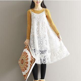 Spaghetti Strap Lace Dress 1056920278