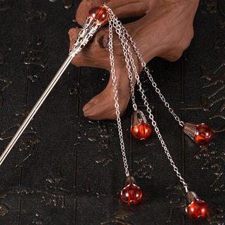 Image of Retro Bead Fringed Hair Stick