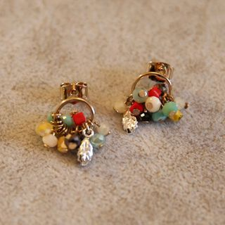 Image of Beaded Dangle Earring 1 Pair - As Shown In Figure - One Size