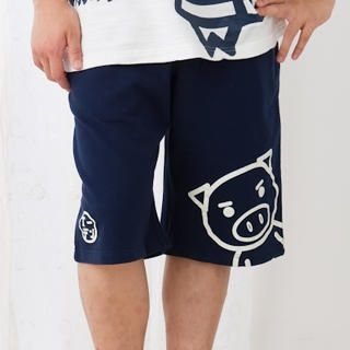 Picture of Buden Akindo Printed Drawstring Shorts - Beautiful Pig 1022824903 (Buden Akindo, Mens Pants, Japan)