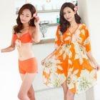 Set: Bow Bikini + Floral Cover 1596