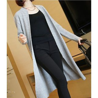 Ribbed Long Cardigan 1054105639