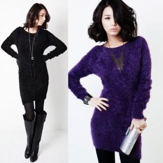 Buy Stylementor Faux Fur Knit Minidress 1021922115