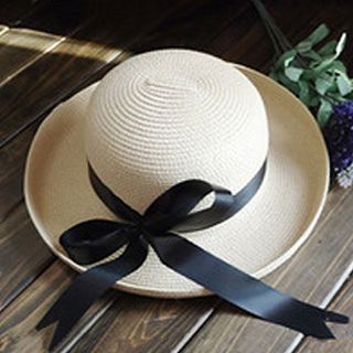 Image of Bow Accent Boater Hat